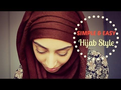 EASY HIJAB TUTORIAL / TUTO HIJAB FACILE - YouTube