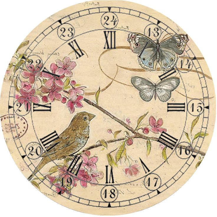 DECOUPAGE clock
