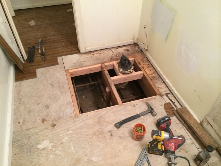 Subfloor Replacement Around Toilet
