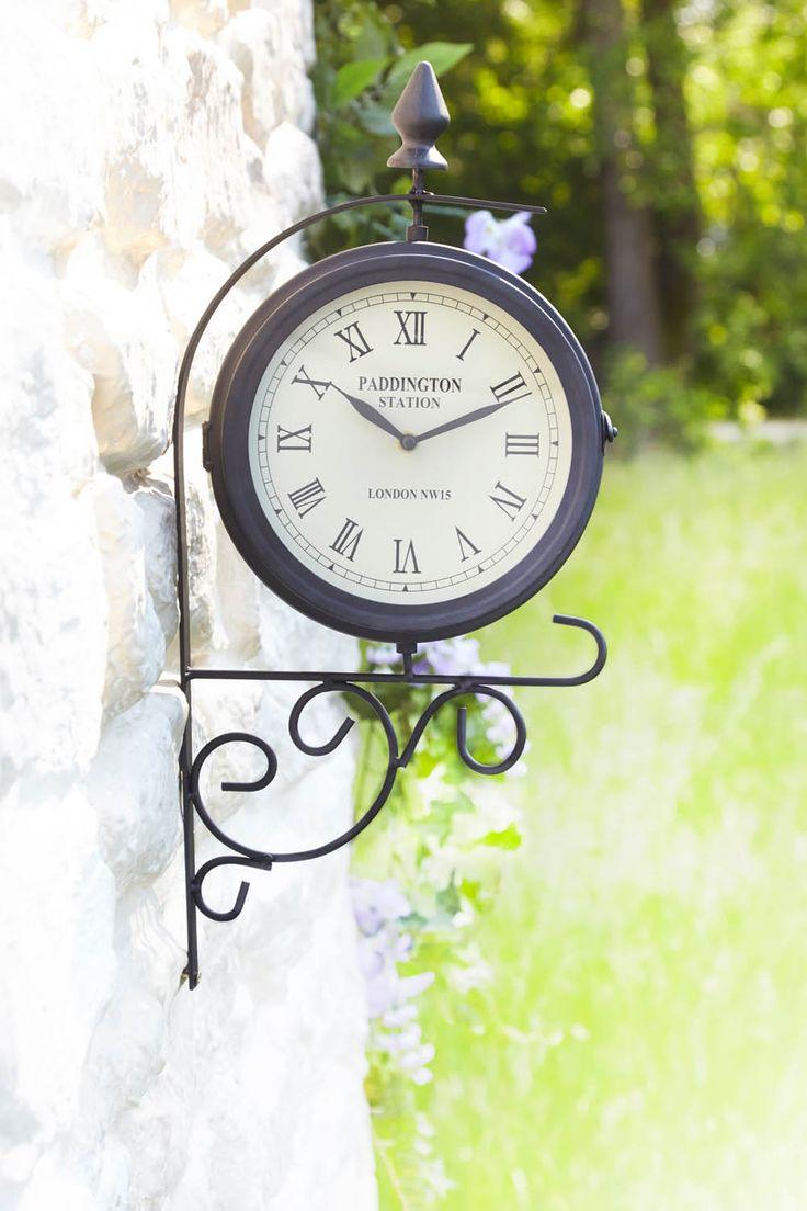 Indoor/Outdoor Clock £20  Dual sided rotating face. Weather-proof powder coated metal case. Tick tock food o'clock :)  KLife Kleeneze