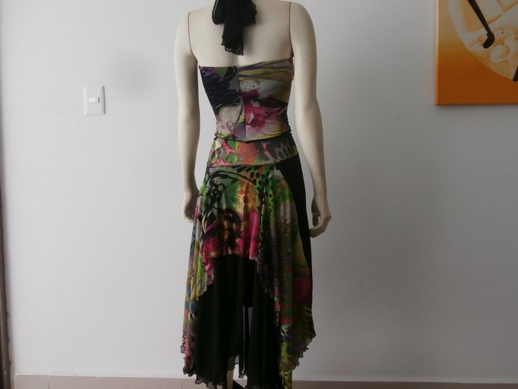 Milonga Argentine Tango Skirt & Halter Top 2pc Dress Set fits US 4 and 6  -Tango Argentino Dancewear by COCOsDANCEWEAR on Etsy