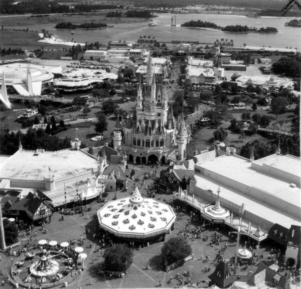 Aerial Picture of Walt Disney World--1971