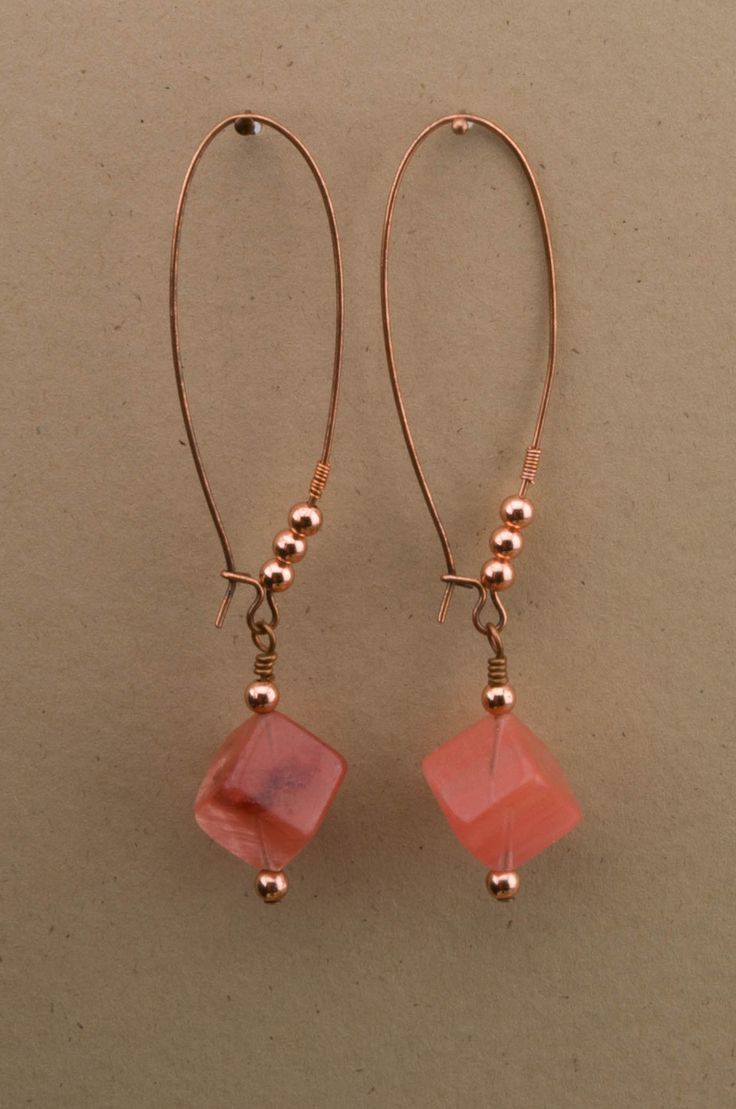 Cherry Quartz Cube Drop Earrings                                                                                                                                                     More