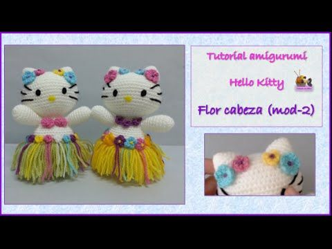 Tutorial amigurumi Hello Kitty - Falda (mod-7) - YouTube