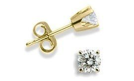Baby 0.06 TCW Yellow Gold Diamond Stud Earrings Elite Jewels. $84.95. Save 38% Off!