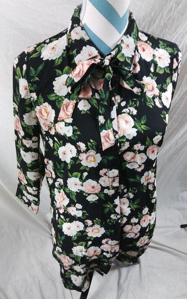56b7f183ce0e Forever 21 Size Medium Floral Career Sheer Blouse Tunic Top #FOREVER21 # Blouse #Career