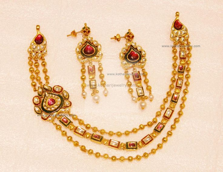 Necklaces / Harams - Gold Jewellery Necklaces / Harams (NK86307890) at USD 3,610.69 And EURO 3,232.41
