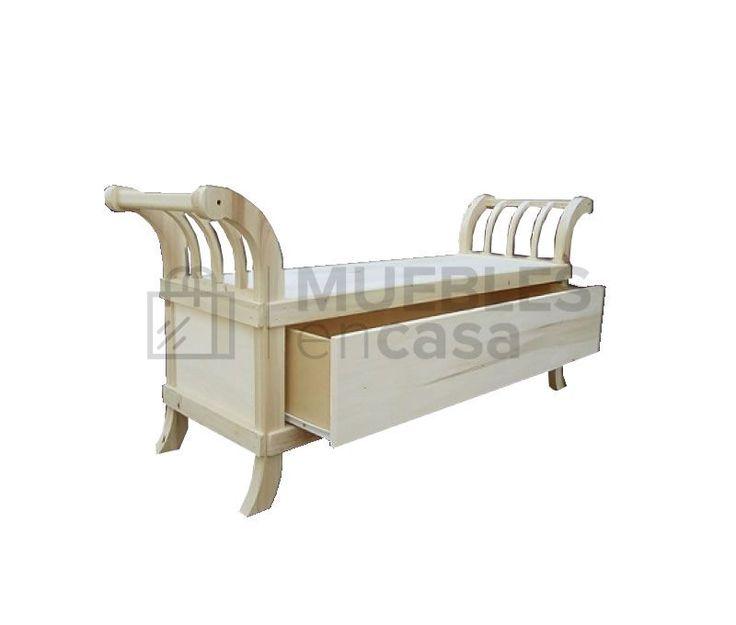 Pie de cama romano zapatero en Muebles en Casa