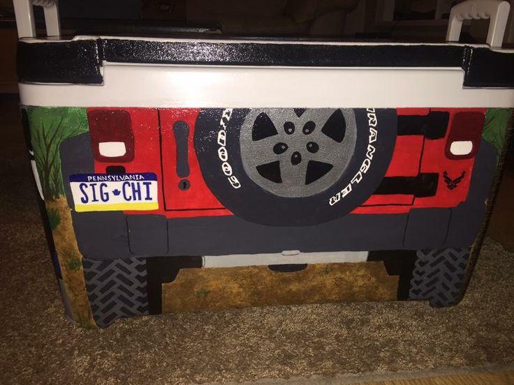 sigma chi jeep license plate cooler