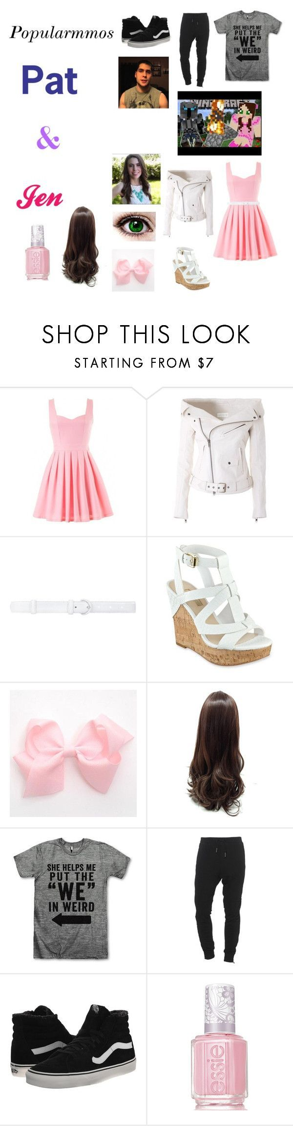Pat and Jen~ Popularmmos by fashion-anime-animals-reading ❤ liked on Polyvore featuring Faith Connexion, Oscar de la Renta, GUESS, True Religion, Vans and Essie