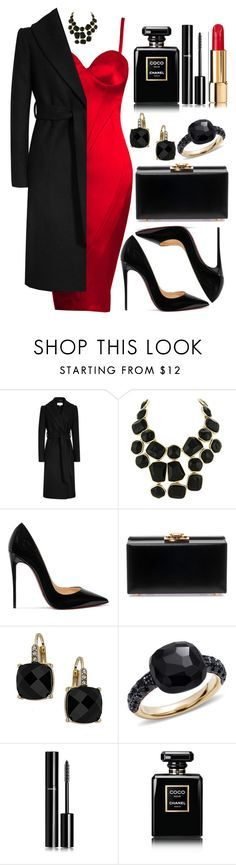"""Untitled #4376"" by natalyasidunova ❤ liked on Polyvore featuring Gavaskar, Kenneth Jay Lane, Christian Louboutin, Yves Saint Laurent, Wallis, Pomellato and Chanel"