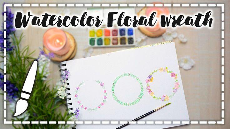 Acuarelas básicas -  Watercolor Floral Wreath - A dibujar #01
