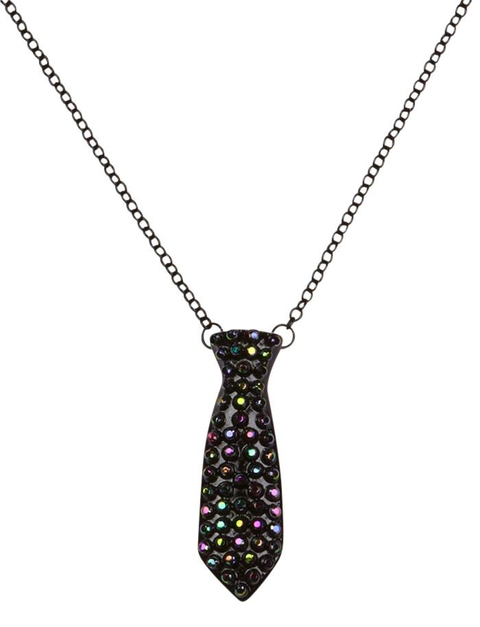 Black Rhinestone Tie Necklace | Necklaces | Jewelry | Shop Justice