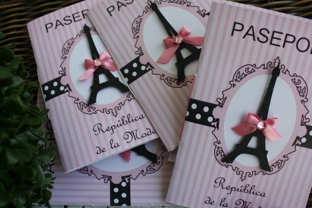 Adorable passport party invites, perfect for a Paris themed quinceanera: http://www.quinceanera.com/decorations-themes/paris-themed-quince/?utm_source=pinterest&utm_medium=article&utm_campaign=122014-paris-themed-quince