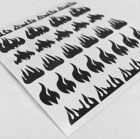 Original Fire Nail Vinyls Nail Stencils by TwinkledTNailVinyls