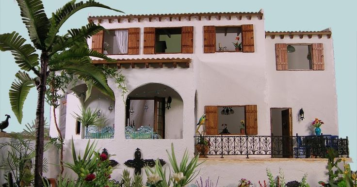 A Spanish Villa with Spanish, Moroccan, Mexican and Italian influences. It's name is Casa de la pavo...... (House of the peacock) I st...