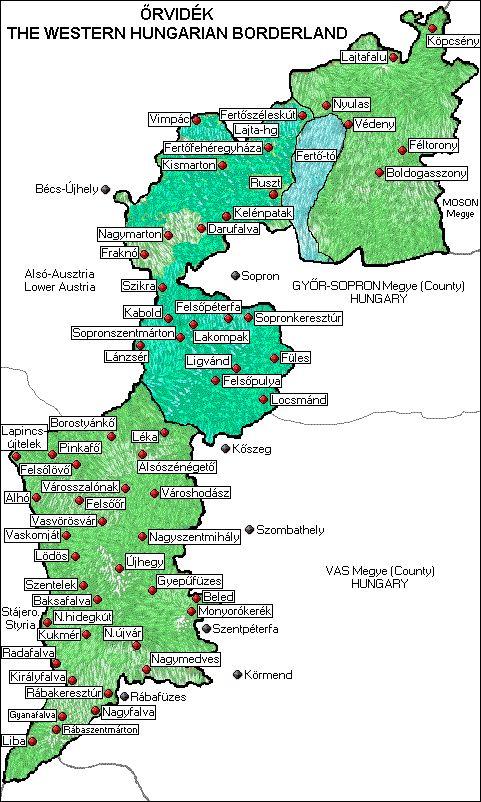 ŐRVIDÉK ..A térkép megjelölt részeire való mutatással megtekintheti a képeket