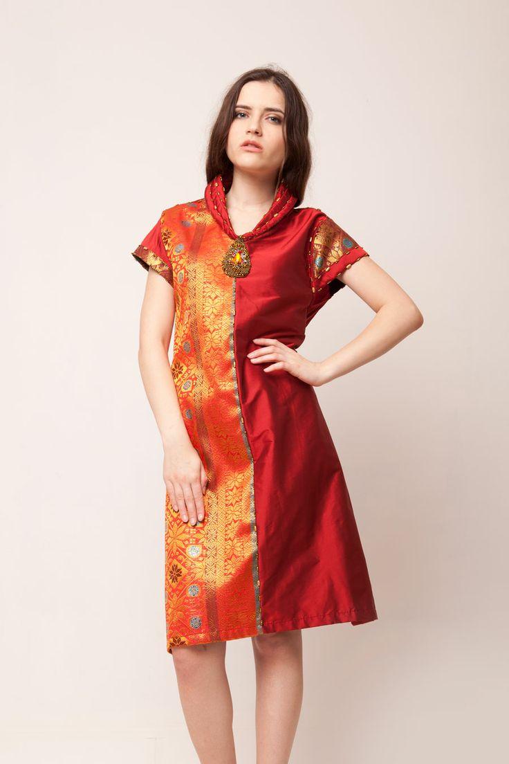 Red Songket Dress