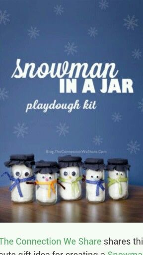 Playdoh kit... Snowman in a jar! Super cute for winter birthdays!