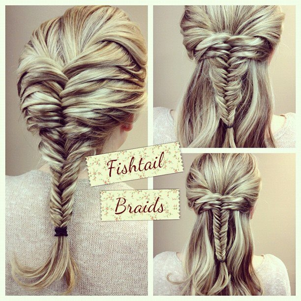 Fish tail braid ideas. I finally mastered it, might as well find