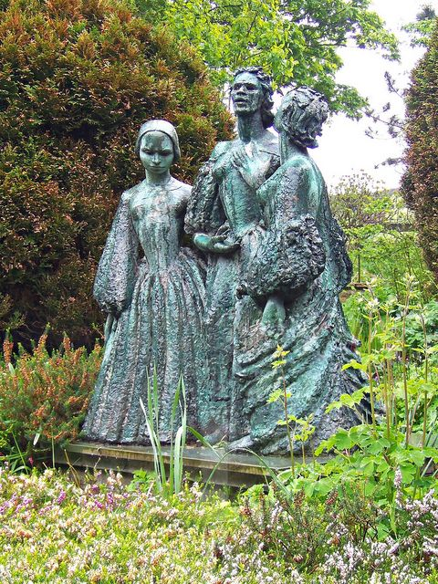 HAWORTH, ENGLAND   l   Bronte Sisters by Jocelyn Horner, Bronte Parsonage, Haworth, West Yorkshire | Flickr - Photo Sharing!
