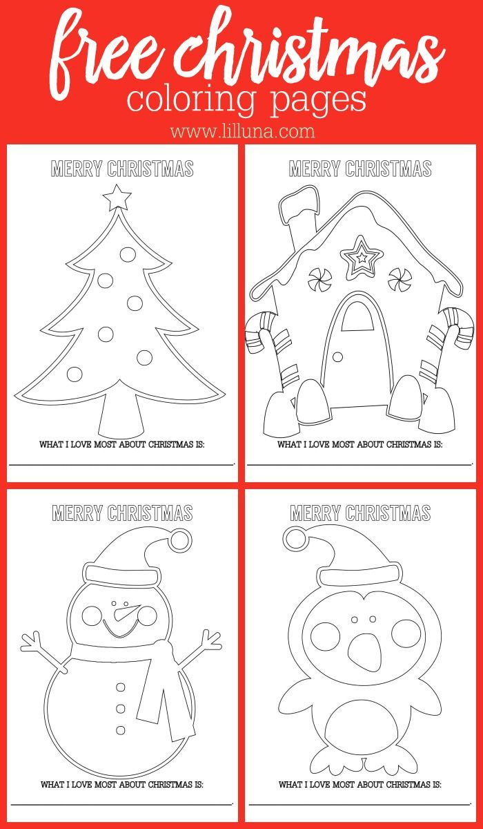 FREE Christmas Coloring pages - get the free printable kids activity that is perfect for your Christmas get-together.