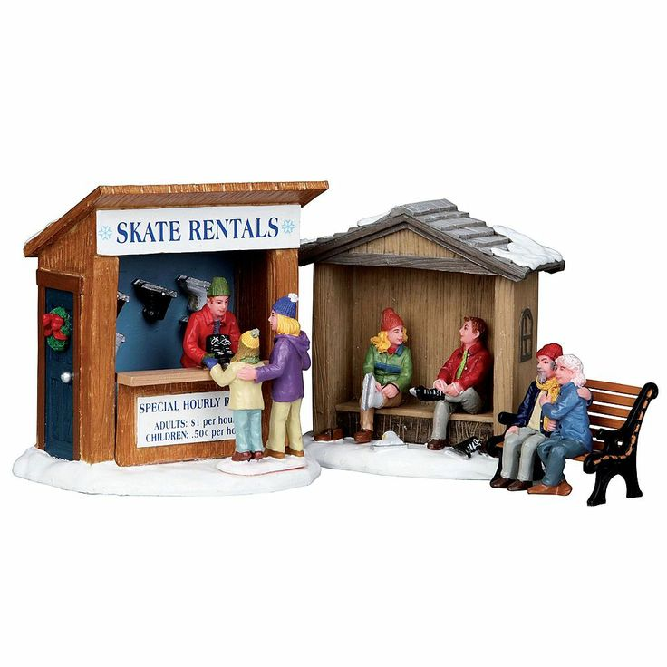 Lemax Village Collection Set Of 3, Christmas Village Accessory, Skate Rentals - Seasonal - Christmas - Villages & Collectibles  $16.99  2013