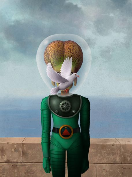 GEEKY VERSIONS OF RENÉ MAGRITTE'S THE SON OF MAN