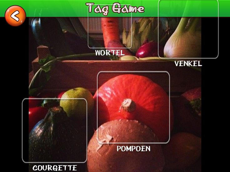 Learning the names of vegetables in Dutch
