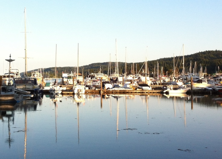 Evening in Ganges Harbour, Salt Spring Island, July 2012.