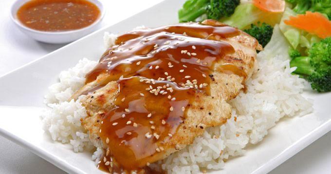 poulet riz miel