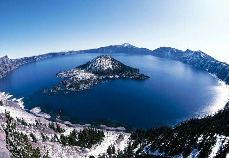 Lago Cráter Azul de Oregón EEUU
