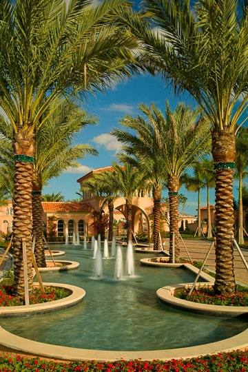 Fountain  Landscape Architecture Krent Wieland Design - South Florida, Palm Beach County