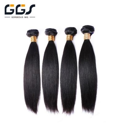 Brazilian Hair Weave 1B# Black Straight Unprocessed Virgin Remy Human Hair Extensions Bundles 5A 100g