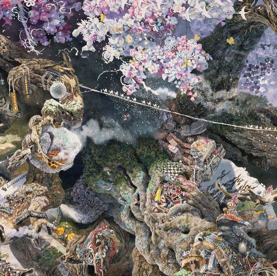 【待望の決定版】ペンで描く超細密宇宙。画家・池田学の自選100点を収録した画集が発売 | ADB