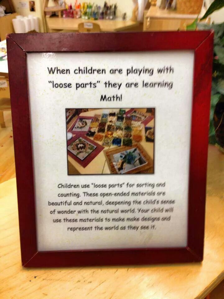 Loose parts play, teachers, parents, newsletter