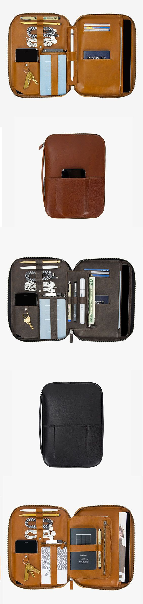 pro leather case / organizer for your tech & creative tools
