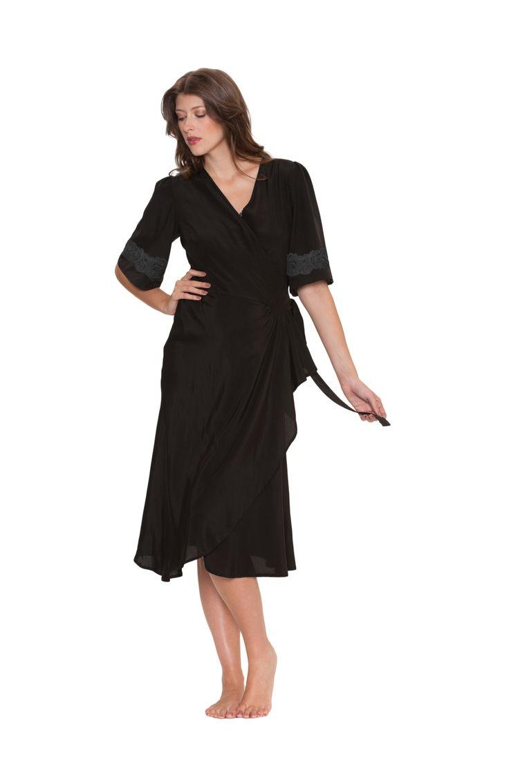 #sexy #black #robe #vintage #peplum #silk #christmas #sexy #lingerie #sleepwear #present