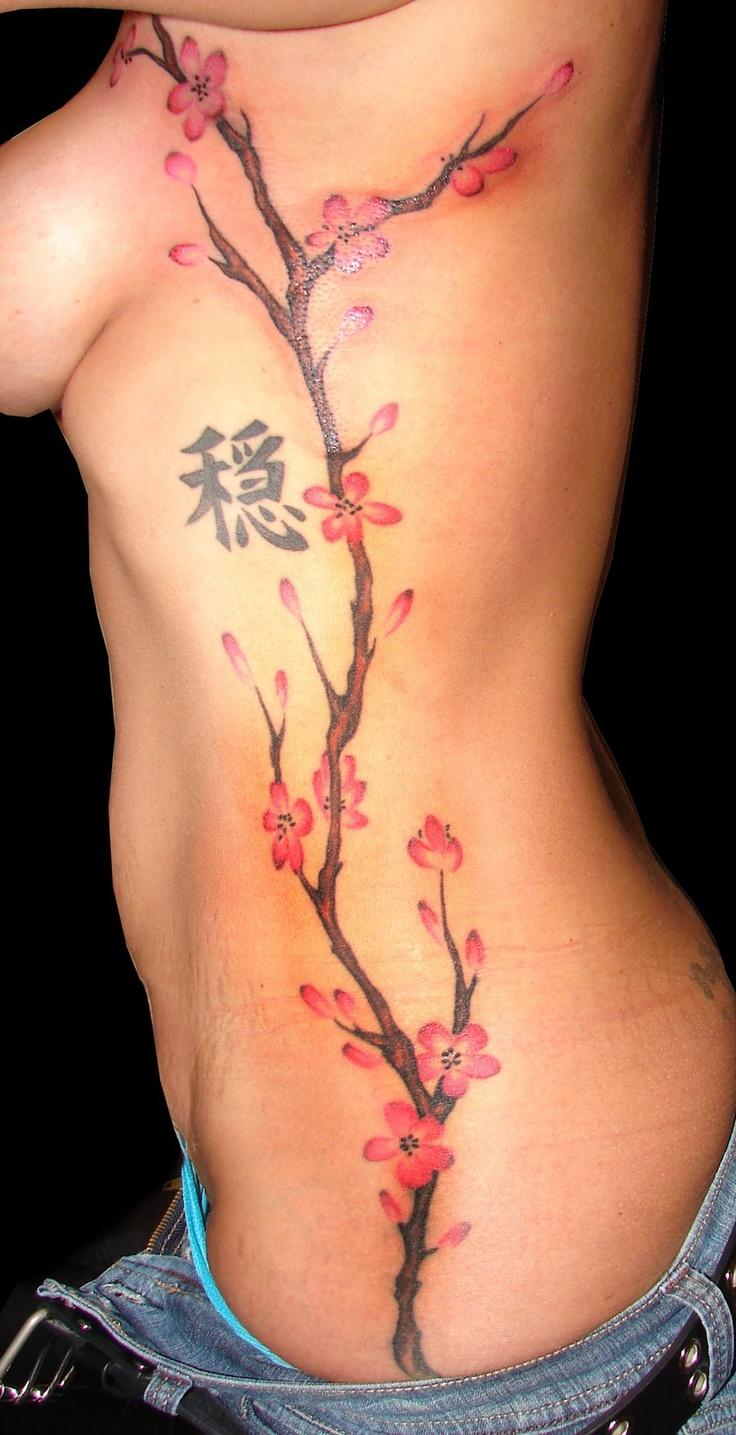 Japanese tattoos feb 27 frog tattoo on foot feb 25 japanese tattoo - Cherry Blossom Tattoo On Left Side No Symbol