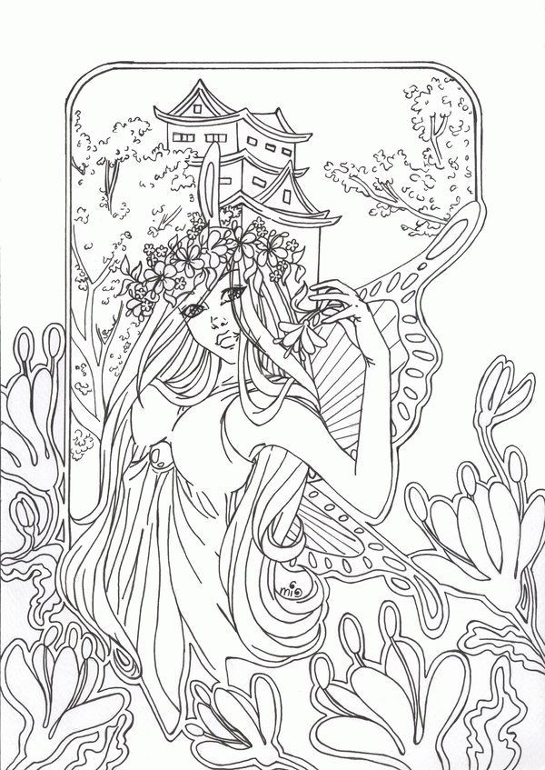 Pin By Nanci Hopwood On Coloring Pages Fairy Coloring