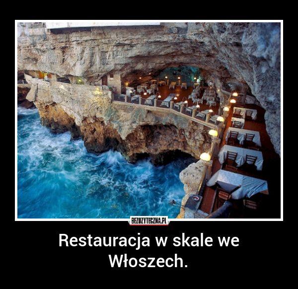 Restauracja w skale znajduje się pod hotelem Palazzese Grotta w małym miasteczku Polignano a Mare