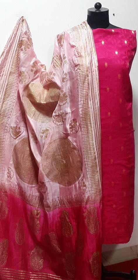 Weave of Gold Zari on Black Silk Banarsi Dupatta. Black is Beautiful......u can wear on any occassion u like..Indian Traditional, Ethnic and Luxurious Shawls and Stoles at CraftsBazaar Made in India Online include Kashmiri Embroidert Pashmina Sozni, Kani, Papier Mache Shawls and Stoles, Jamavaar Shawls, Gujarati Kuttchi Shawls, Jaipuri Bandhani, Leheriya, Ajrakh and Block printing in silk, Chanderi, Maheshwari, Cotton and Wool.Indian Traditional, Ethnic and Luxurious Shawls and Stoles at…