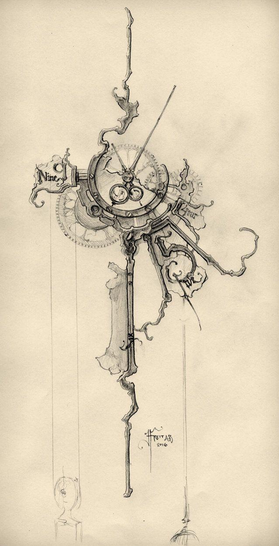 """Résultat de recherche d'images pour """"tatouage steampunk et aquarelle"""""""