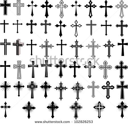 clip art illustration of crosses