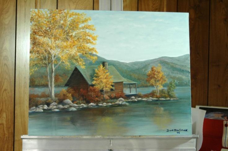 Oil, Lake Cabin, reproduction