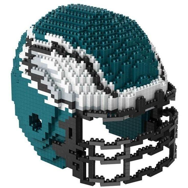 Philadelphia Eagles NFL 3D BRXLZ Puzzle Helmet Set