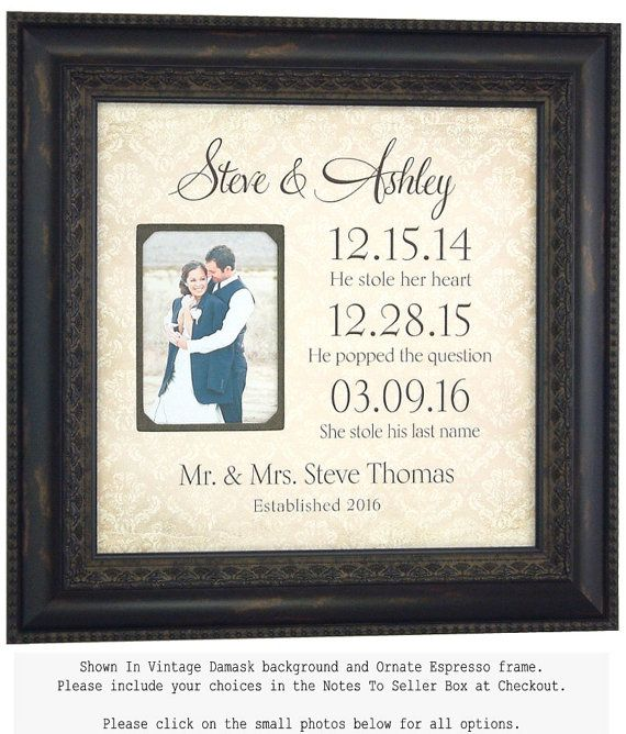 Wedding Frame Special Dates YOUR LOVE STORY by PhotoFrameOriginals