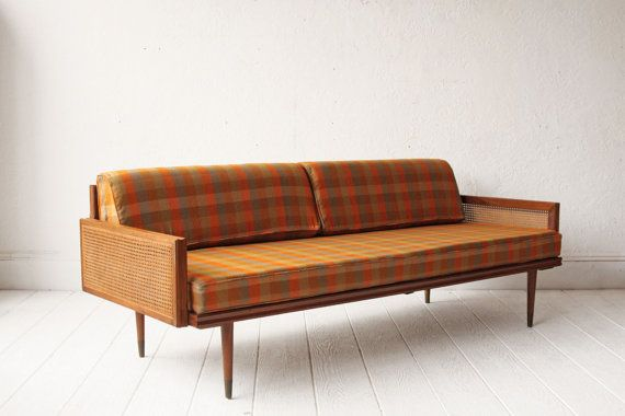 Mid Century Sofa Day Bed Wood Frame by OtherTimesVintage on Etsy