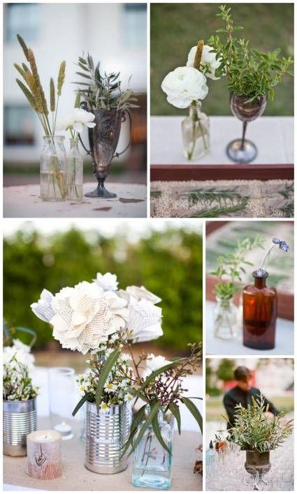 Diseños de centros de mesa para bodas vintage