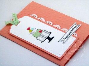 Make a Cake, Itty Bitty Banners Written tutorial found the blog www.kristycoromandel.com